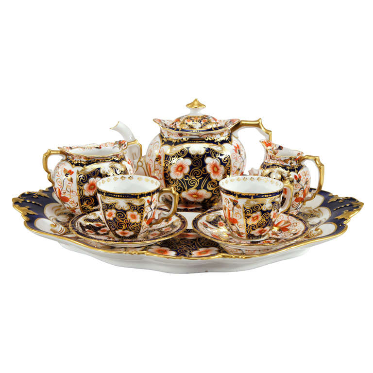 Royal Crown Derby Imari Tete a Tete on Matching Tray
