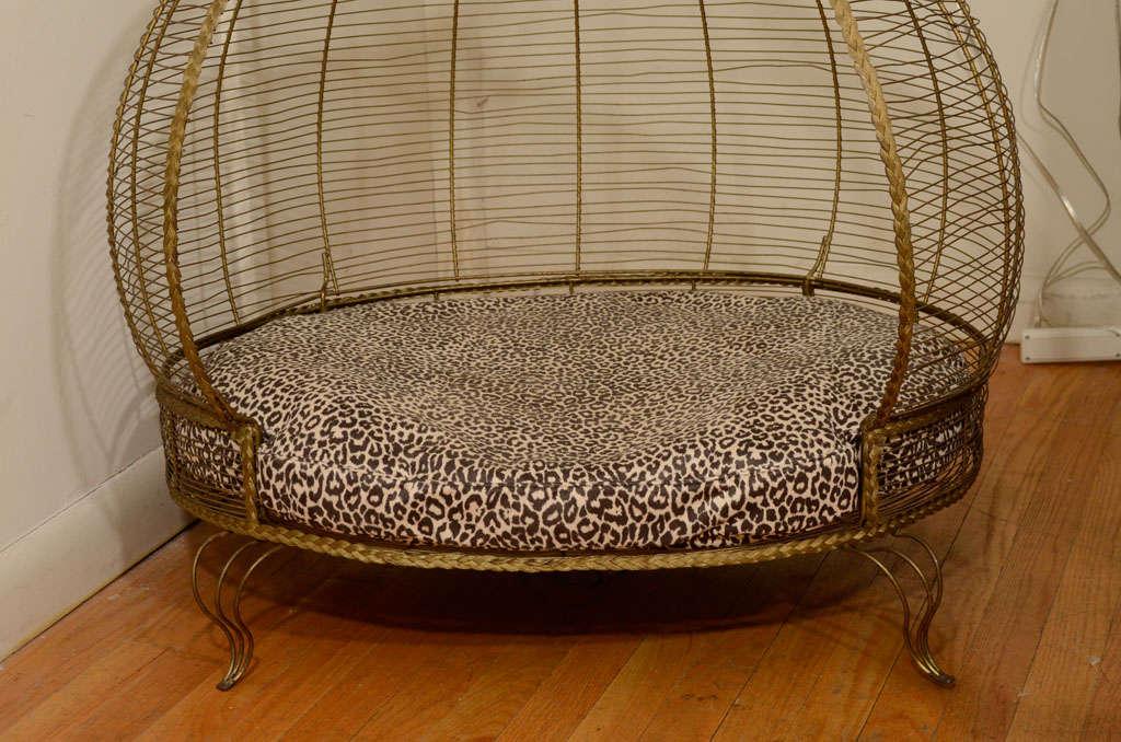 Whimsical Gilt Brass Dog Bed image 4