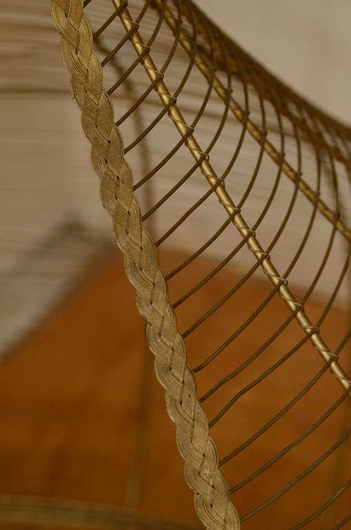 Whimsical Gilt Brass Dog Bed image 6