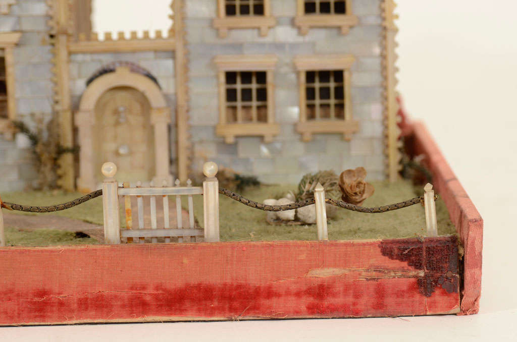 Victorian Mother-of-Pearl Model of a House, England,19th Century image 10