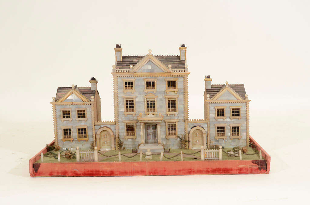 Victorian Mother-of-Pearl Model of a House, England,19th Century image 2