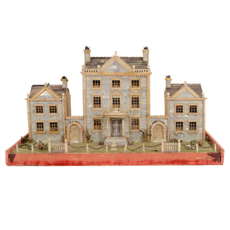 Victorian Mother-of-Pearl Model of a House, England,19th Century