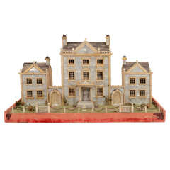 Victorian Mother-of-Pearl Model of a House, England,19th Century thumbnail 1