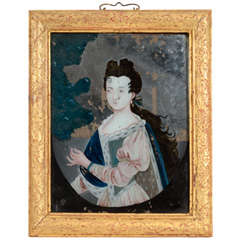A Fine 18th Century Chinese Reverse Glass Painting