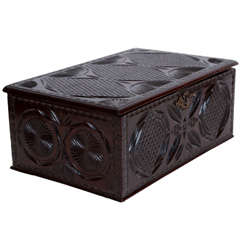 An Early 19th Century Chip Carved Box
