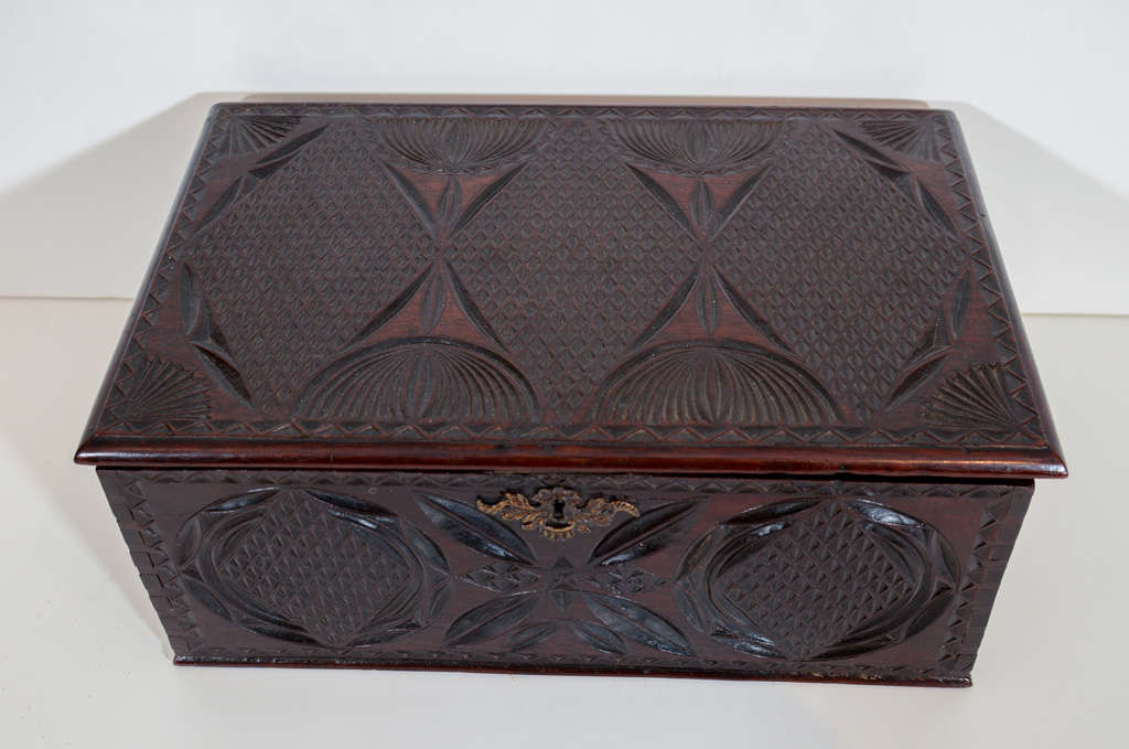 An early th century chip carved box at stdibs