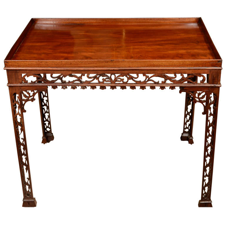 Fine George II Mahogany Silver Table