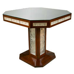 Lalique  Atlantique Pedestal Table