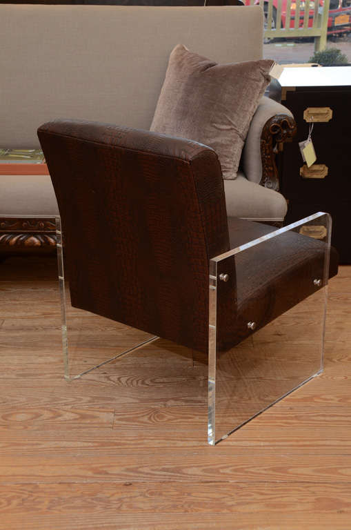 Contemporary Lucite Armchair For Sale