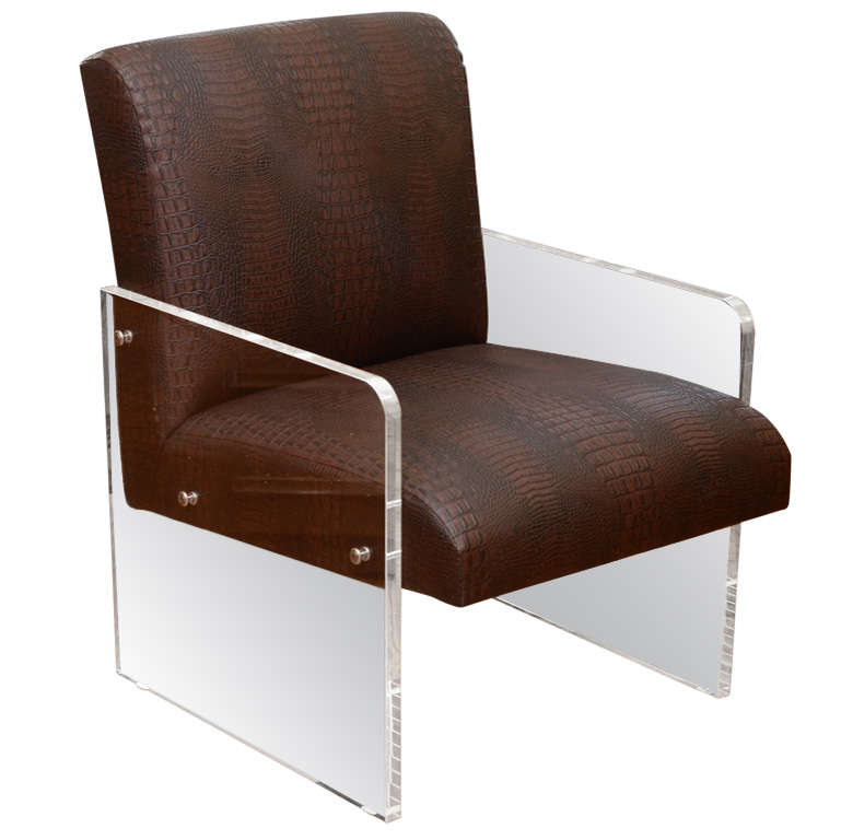Lucite Armchair For Sale