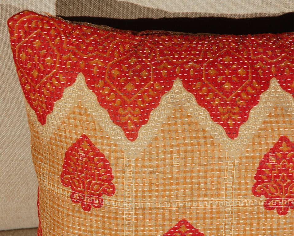 Indian Vintage Kantha Cloth Pillows