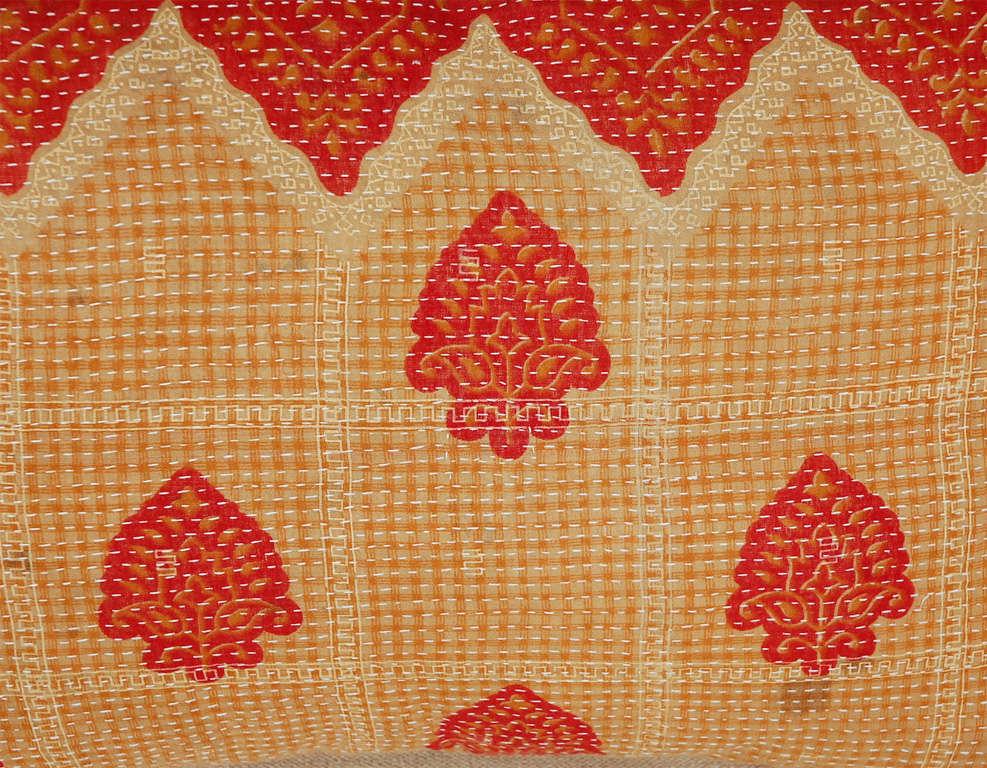 Mid-20th Century Vintage Kantha Cloth Pillows