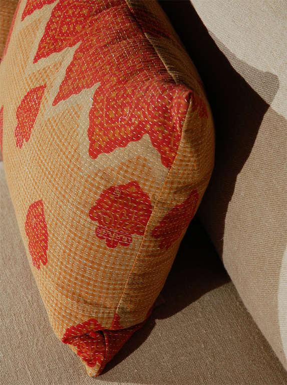 Cotton Vintage Kantha Cloth Pillows