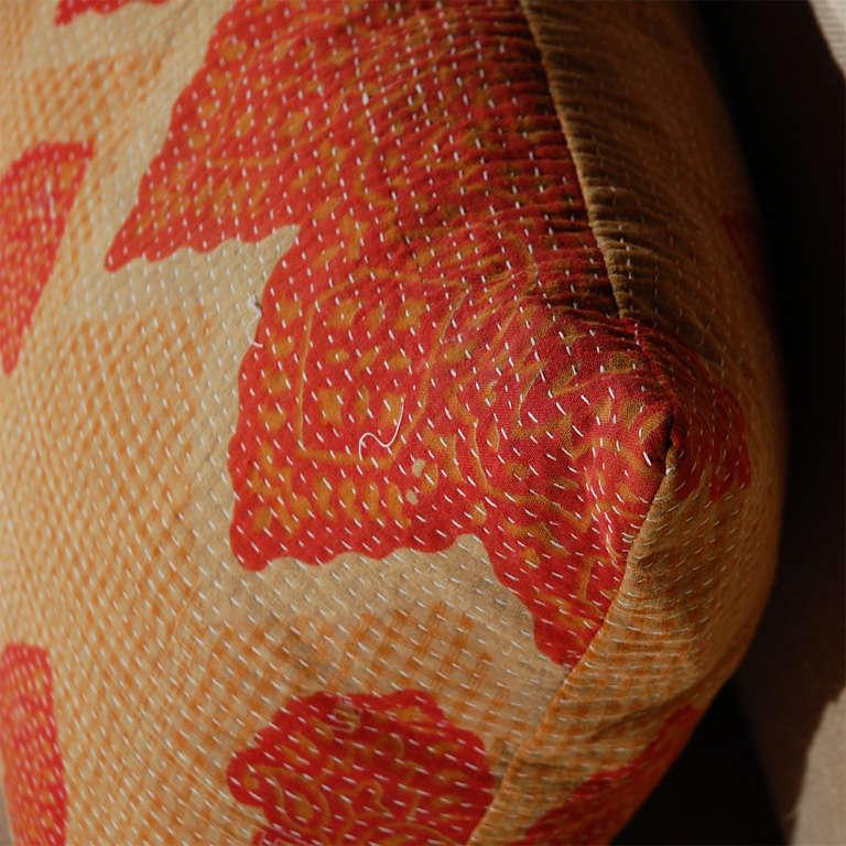 Vintage Kantha Cloth Pillows 1