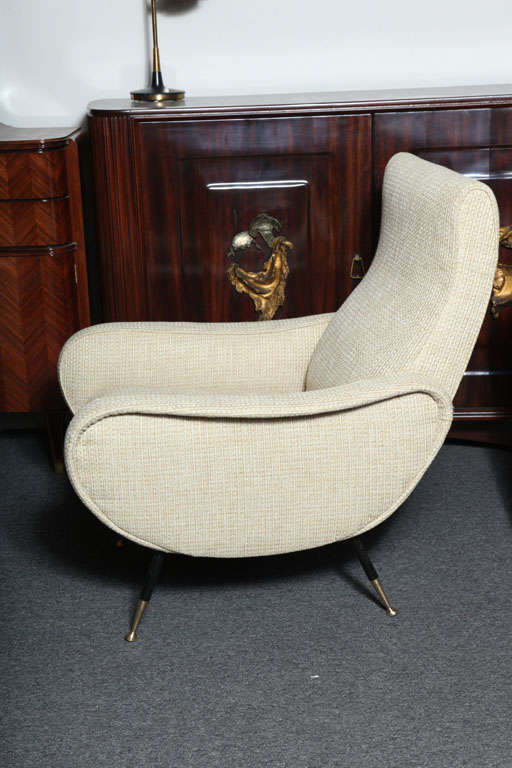 Pr Of Arm Chairs Made In Milan At 1stdibs