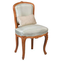 Walnut child's chair in the style of Louis XV
