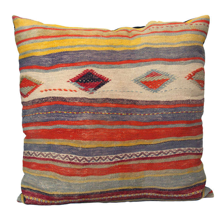 Vintage Floor Pillows : Vintage Kilim Floor Pillow at 1stdibs