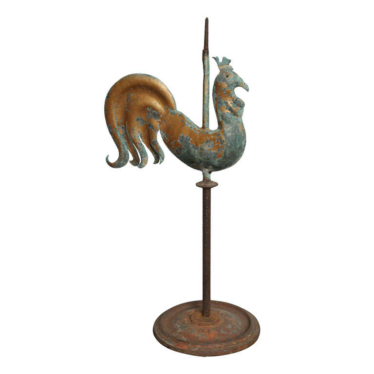 19th Century French Rooster Weathervane