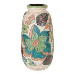 Monumental West German Floral Vase