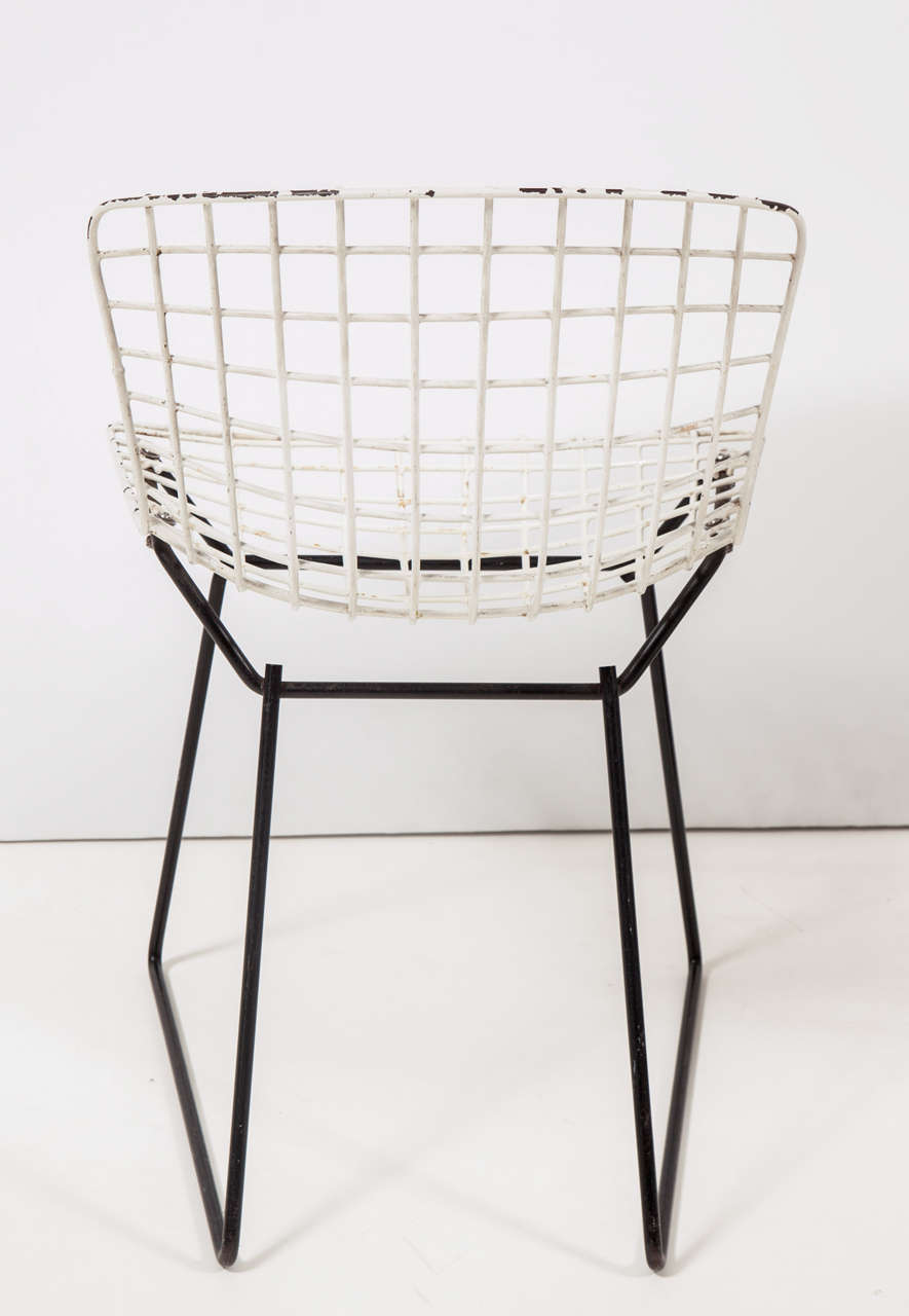 Cyclone side table by isamu noguchi with two toddler bertoia chairs at 1stdibs - Bertoia coffee table ...