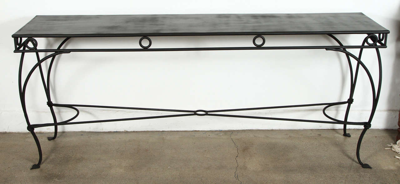 Wrought Iron Moroccan Style Console Or Sofa Table At 1stdibs