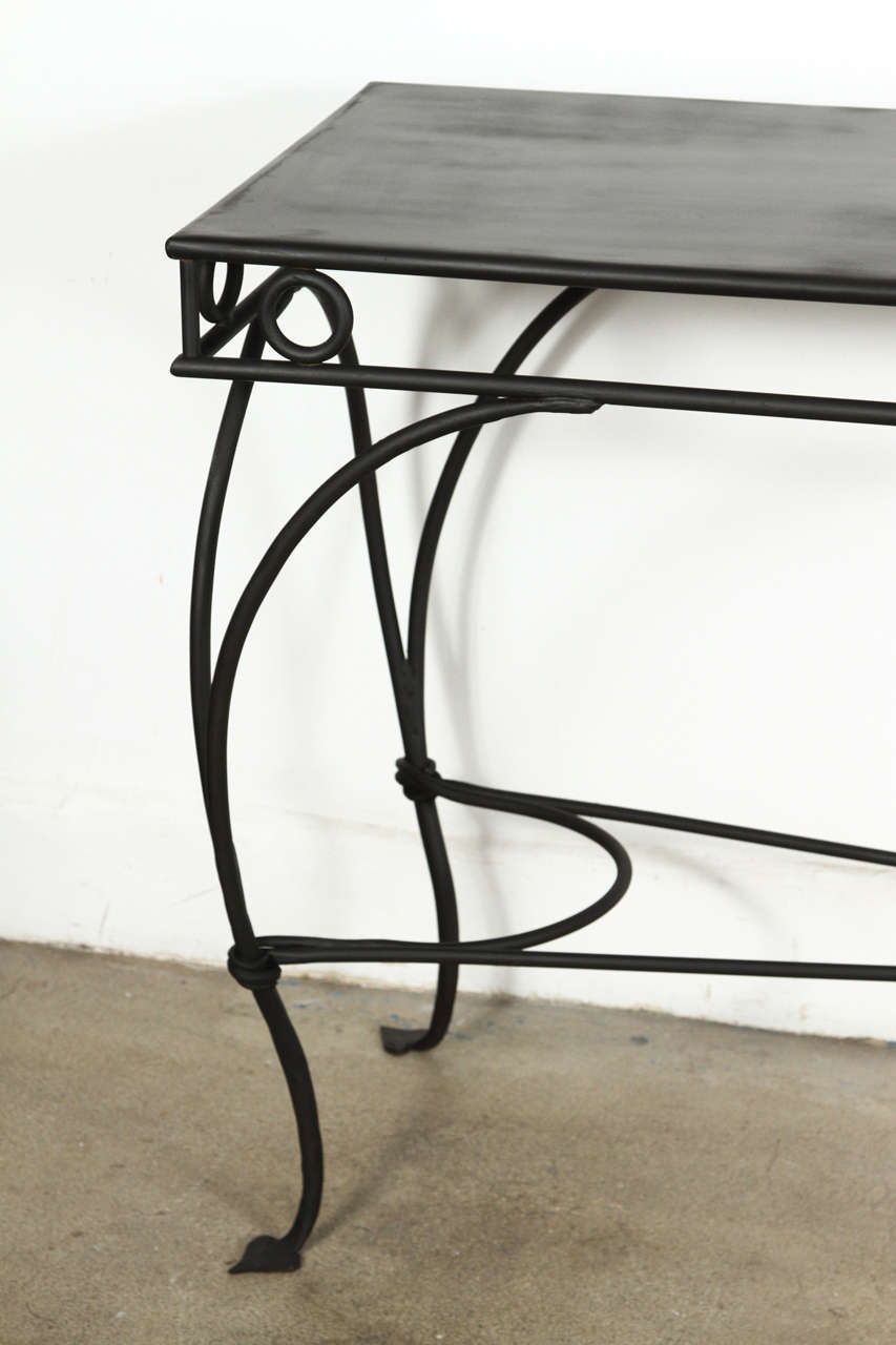 Wrought Iron Moroccan Style Console Or Sofa Table 3