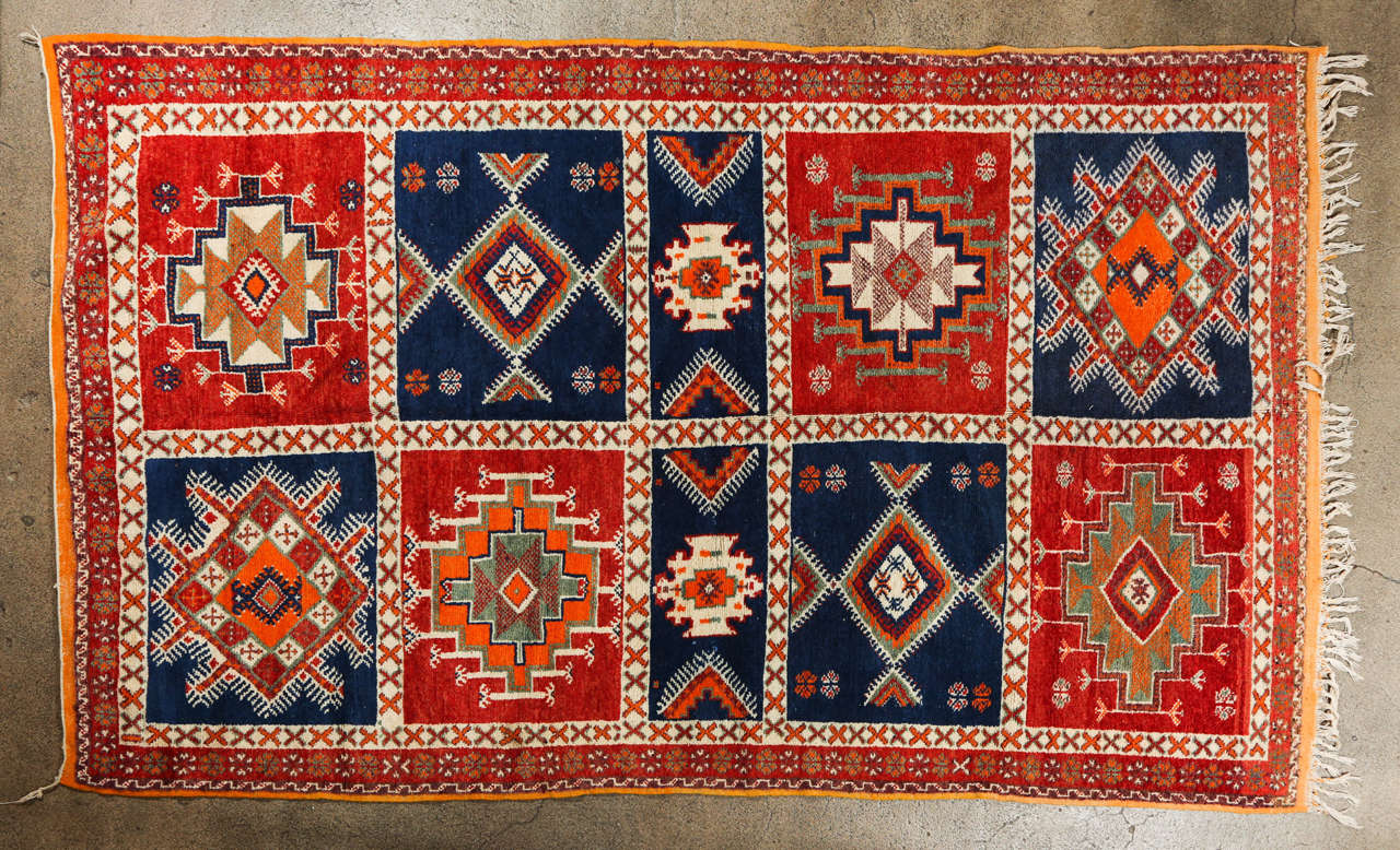 Vintage Moroccan Tribal Rug At 1stdibs