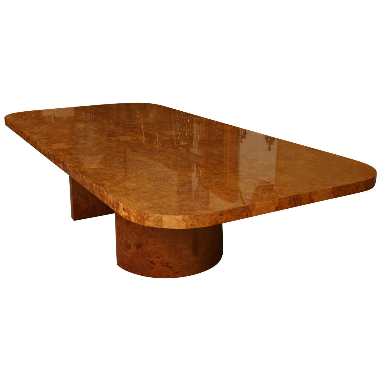 Magnificent monumental burl wood dining table by steve for Table table table