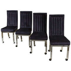 Lovely Set of Four Dining or Gaming Chairs by Hollis Jones