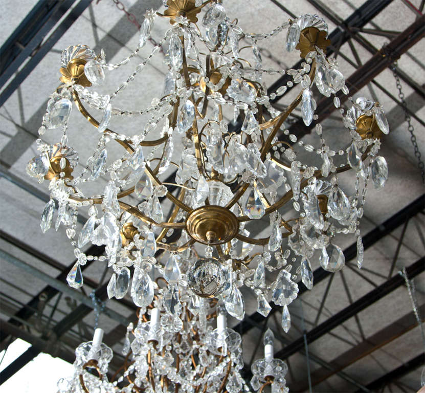 Antique Bronze And Baccarat Crystal Chandelier At 1stdibs