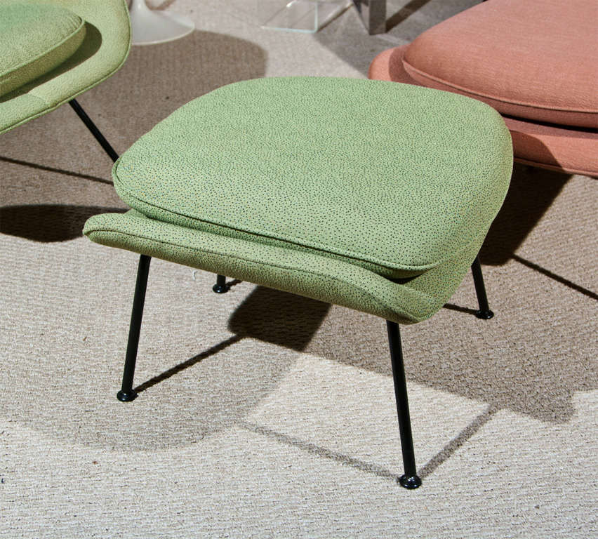 Knoll womb chair and ottoman at 1stdibs - Vintage womb chair for sale ...