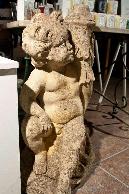 Cast Stone Putti Fountainhead 7