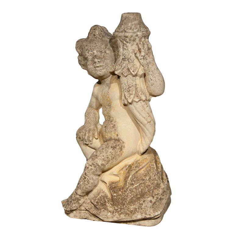 Cast Stone Putti Fountainhead 1