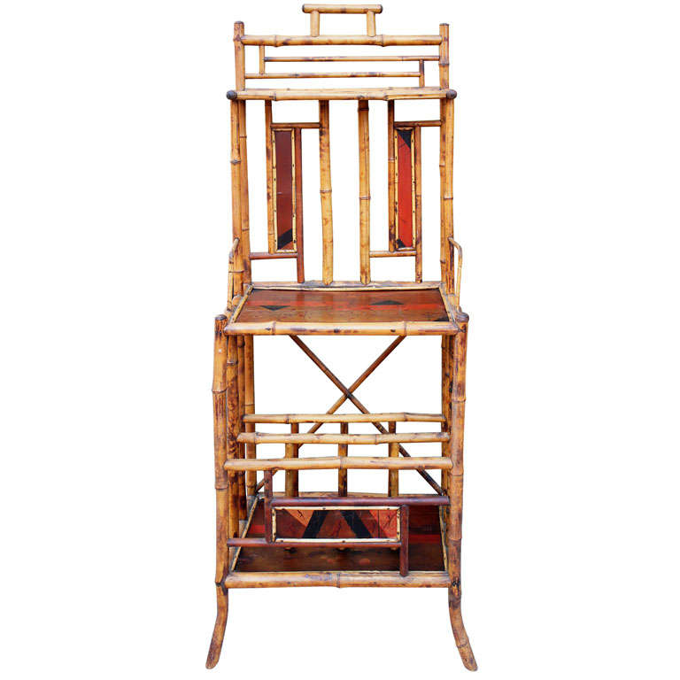 19th century anglo japanese bamboo tag re at 1stdibs for Etagere japonaise
