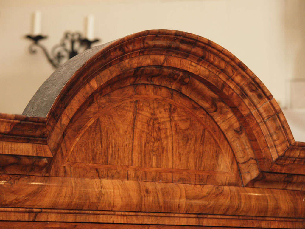 Antique Early 18th Century English Burled Walnut Fall-Front Desk For Sale 2