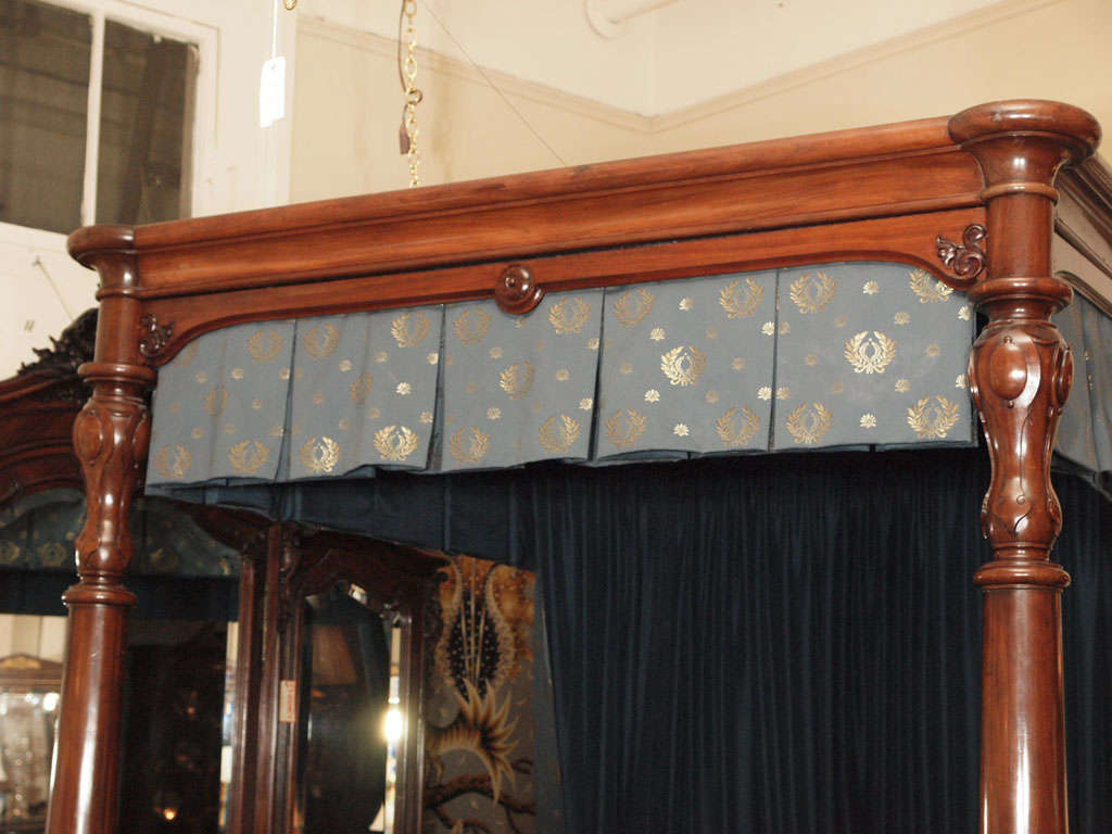 magnificent antique antebellum mahogany canopy bed at 1stdibs