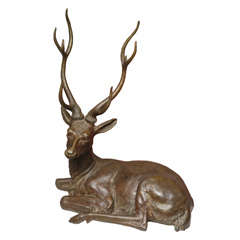 Gabriella Crespi Bronze Stag