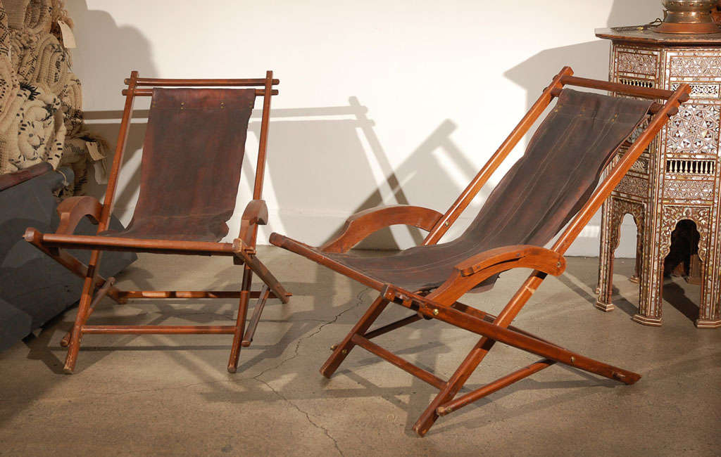 French Campaign Style Folding Chairs 2