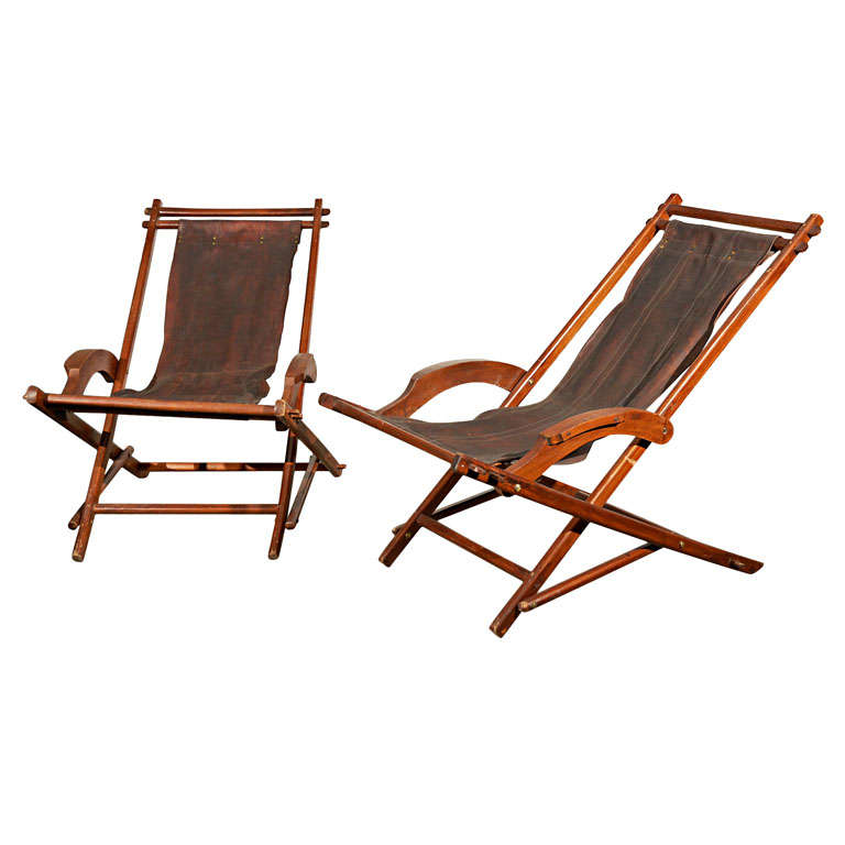 French Campaign Style Folding Chairs 1
