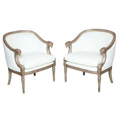 Pair Of Silvered Arm Chairs