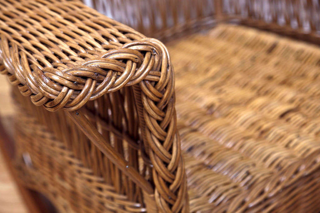 Heywood Wakefield Bar Harbor Wicker Wingback Chair 4