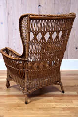 Heywood Wakefield Bar Harbor Wicker Wingback Chair image 6