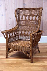Heywood Wakefield Bar Harbor Wicker Wingback Chair image 2