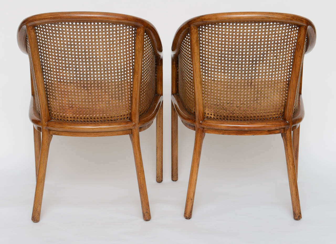 4 Ward Bennett Chairs for Brickell Cane and Ashwood 1970s ...