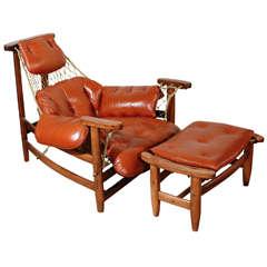 Jean Gillon Lounge Chair and Ottoman