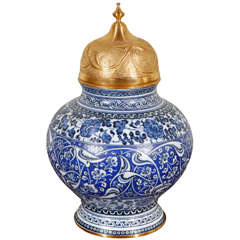 Turkish-Ottoman Lidded Urn