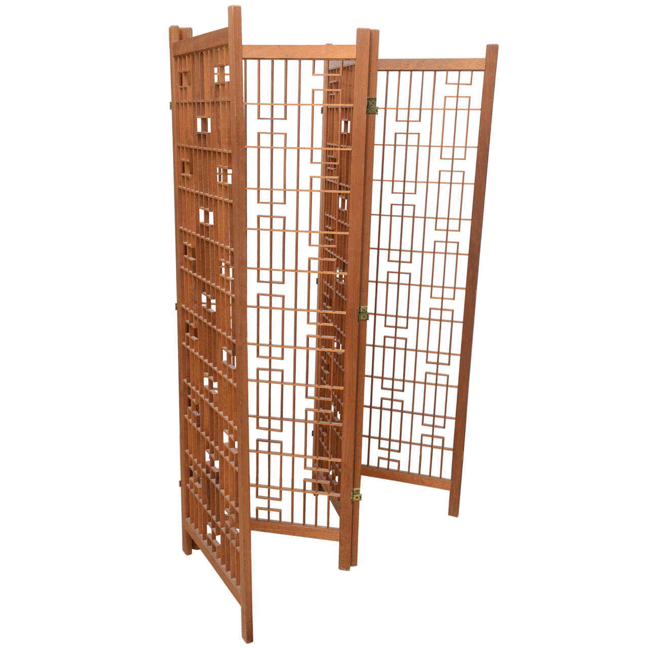 Beautiful Rare Geometric Frank Lloyd Wright Room Divider or Screen