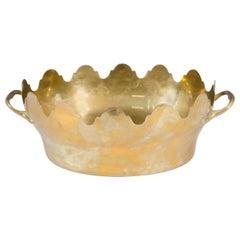Vintage Italian Brass Oval Centerpiece or Rafraichissoir