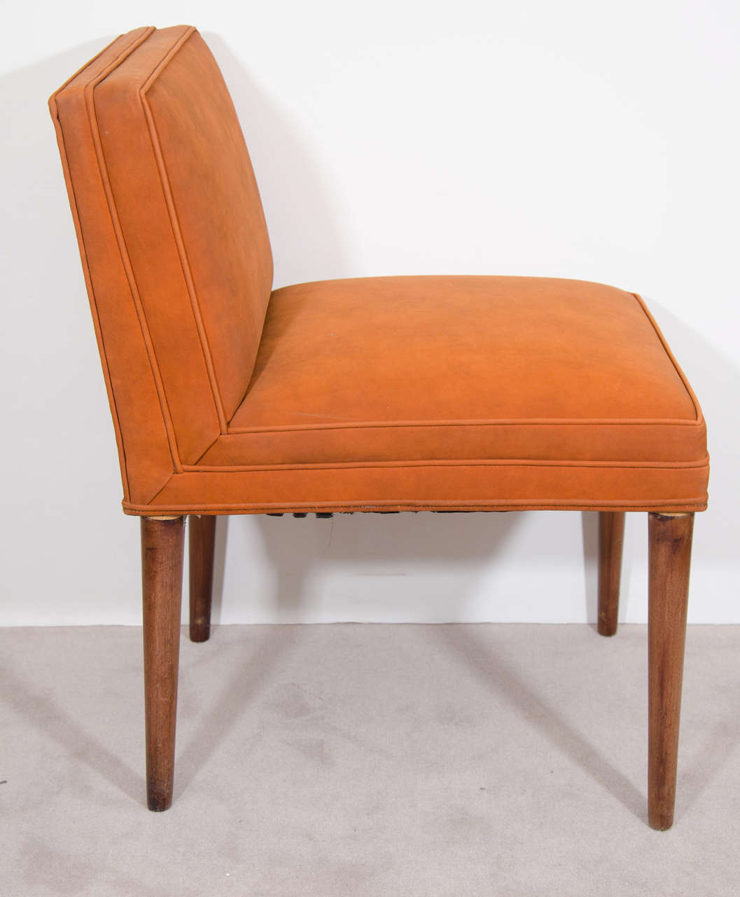 Rust Colored Chair: Midcentury Set Of Four Rust Colored Tommi Parzinger Dining