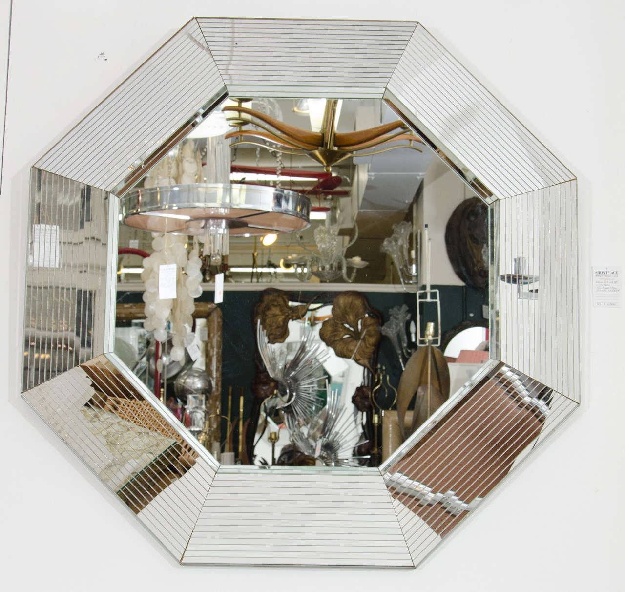1970s beveled glass octagonal wall mirror in the style of for Small wall mirrors for sale